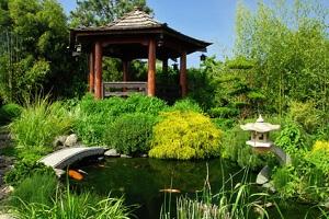 Im Japanischen Garten spielt Wasser eine wichtige Rolle