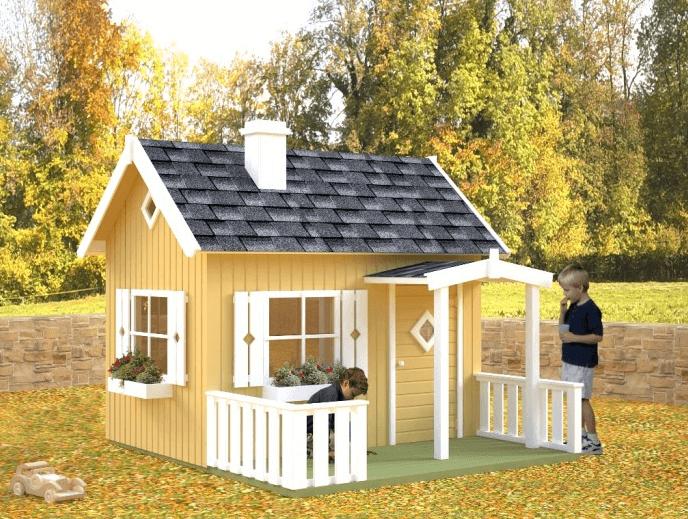 Holzprofi 100 - Kinderspielhaus Otto Modell