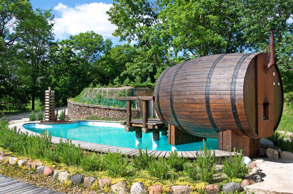Garten Wohlfühloase mit Sauna